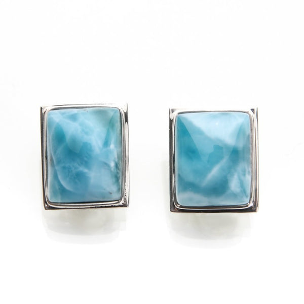 Larimar Clip On Earrings, Nova
