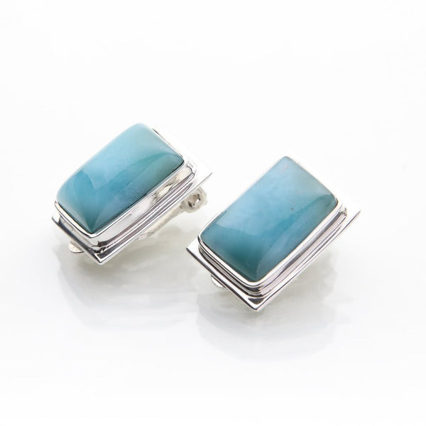 Larimar Clip On Earrings, Chirag