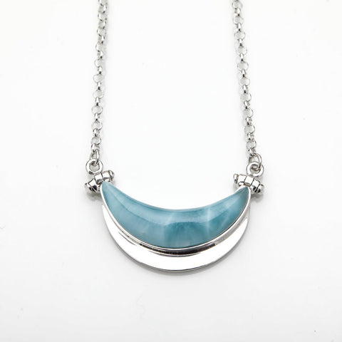 Larimar Moon Necklace, Inaaya XS