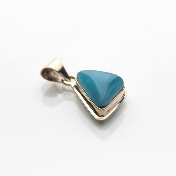 Larimar Pendant set in Gold Arnav