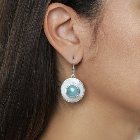 Larimar Earrings, Alaima