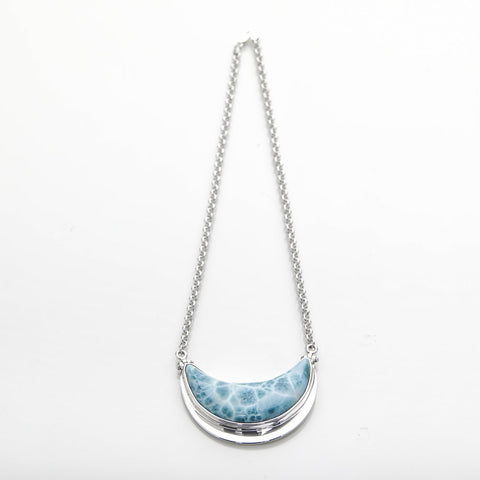 Larimar Moon Necklace, Jessica