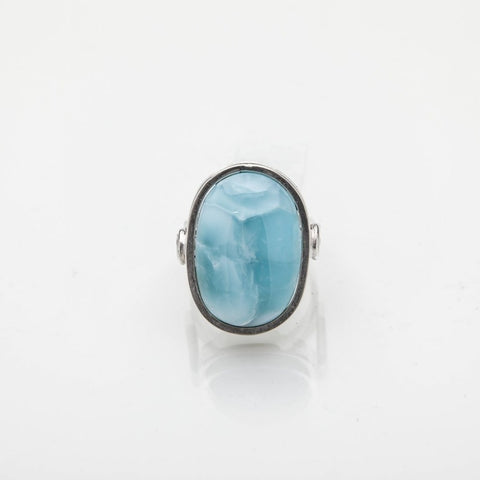 Oval Larimar Ring, Marie
