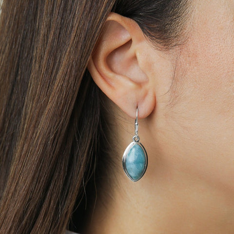 Larimar Dangle Earrings, Valerie