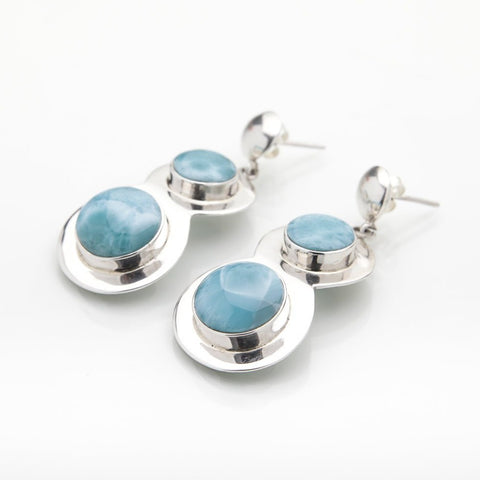 Larimar Earrings, Olympia