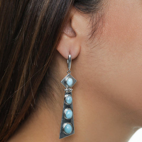 Larimar Earrings, Arianny