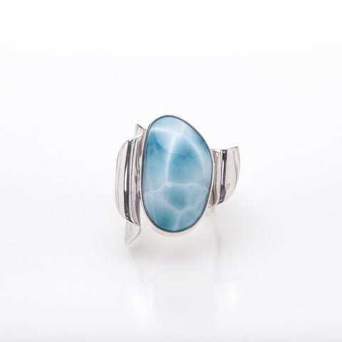 Blue Larimar Statement Ring, Hakan