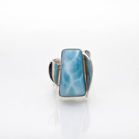 Blue Larimar Statement Ring, Pippa