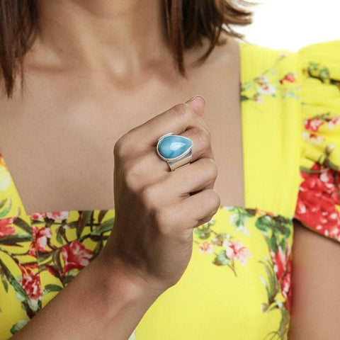 Larimar Statement Ring, Kate