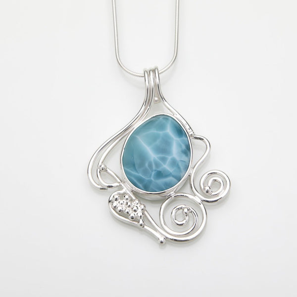 Larimar Branched Pendant, Melissa