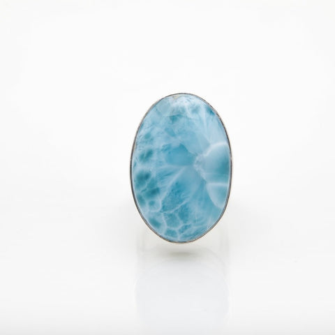 Blue Larimar Ring, Mete