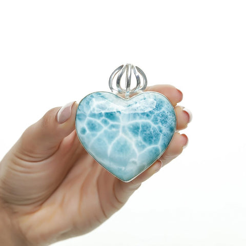 Larimar Heart Pendant, The Crown