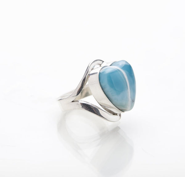 Larimar Heart Ring, Indy