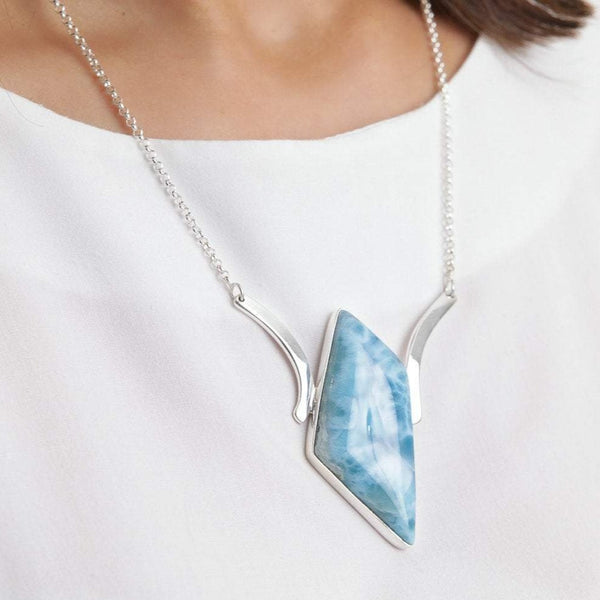 Larimar Necklace, Emersyn