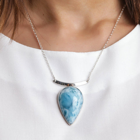 Larimar Stone Necklace, Jayla