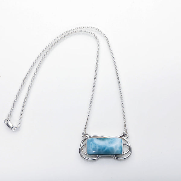 Larimar Necklace, Clove