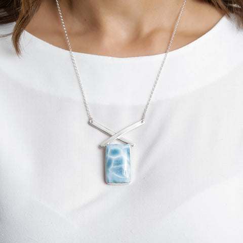 Larimar Blue Necklace, Alia
