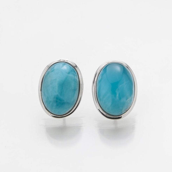Larimar Stud Earrings, Misha