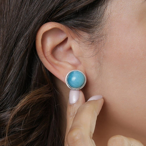 Larimar Earrings, Cirie