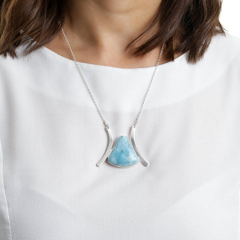 Larimar Necklace, Delani
