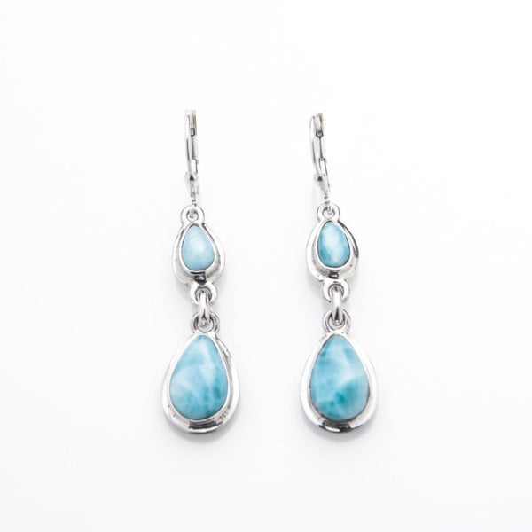 Dangle Larimar Earrings, Zadie