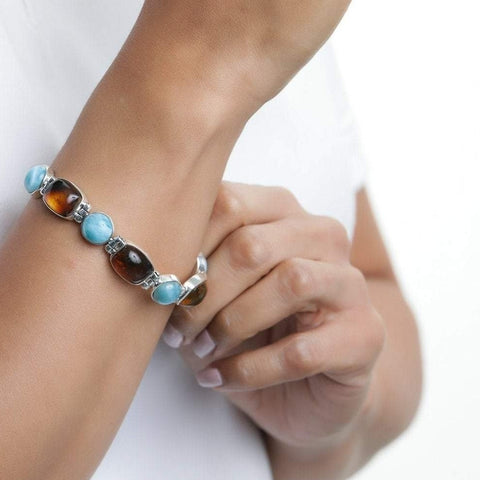 Larimar and Amber Bracelet, Elvira