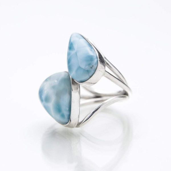 Double Larimar Stone Ring, Uri