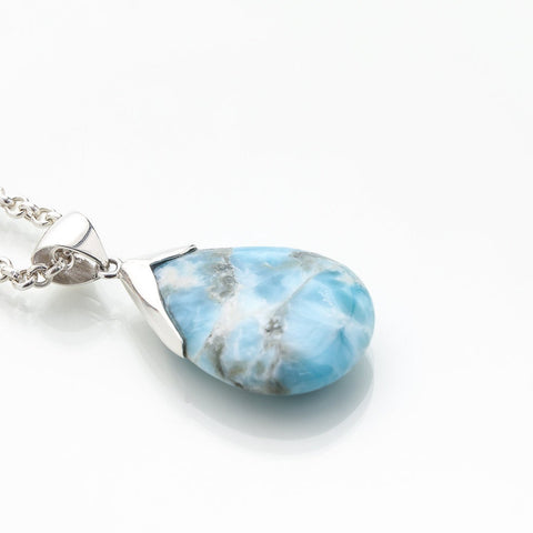 Larimar Heart Pendant, Virtue