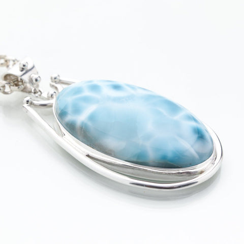 Turtleback Larimar Pendant, Louisa