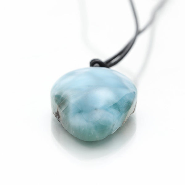 Larimar and Leather Necklace, Goliat