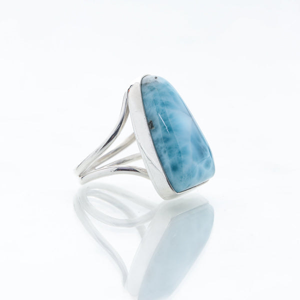 Freeform Larimar Ring, Cat
