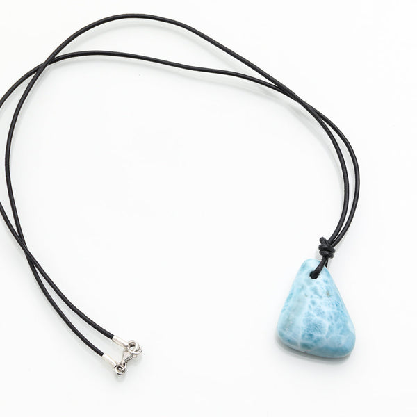 Larimar Leather Cord Necklace, William
