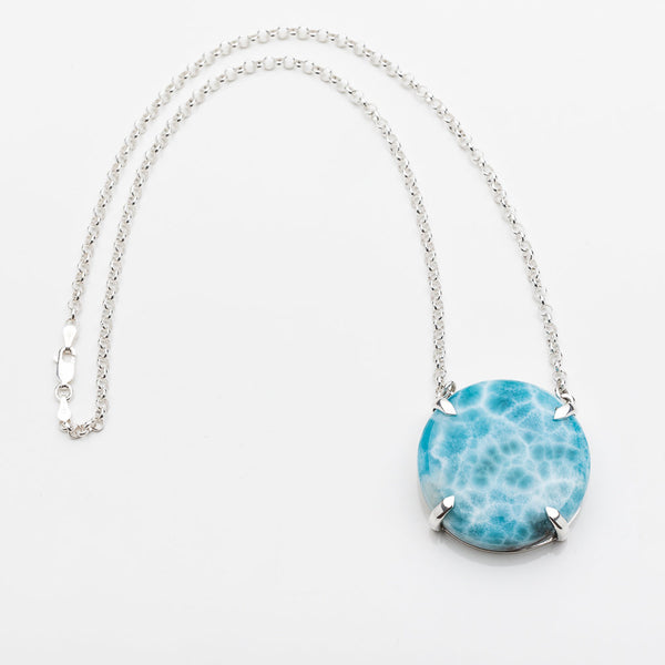 Larimar Round Necklace, Nora