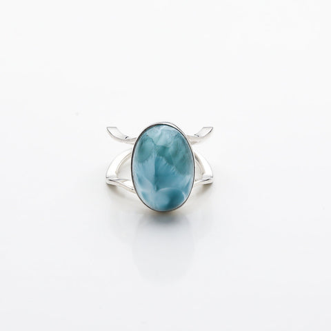 Oval Larimar Ring, Dante