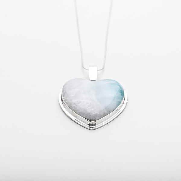 Larimar Heart Pendant, CLOUD XXI