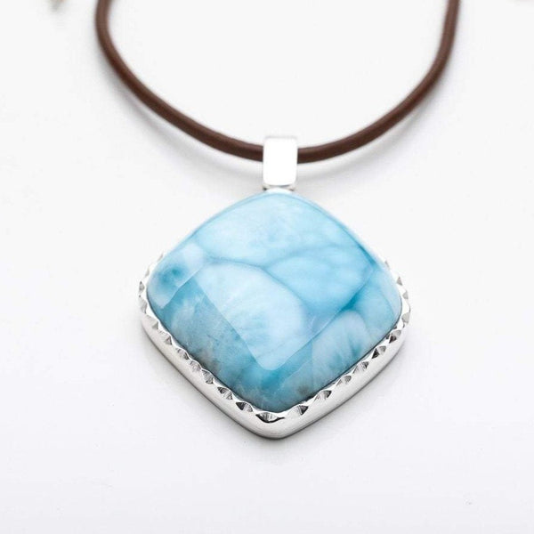 Large Larimar Pendant, Riley