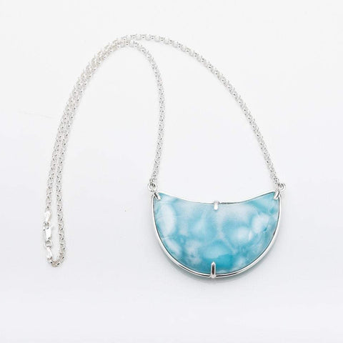 Larimar Moon Necklace, Mayra