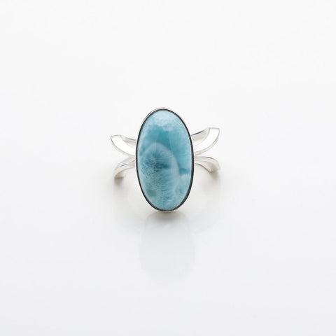 Oval Larimar Ring, Selena