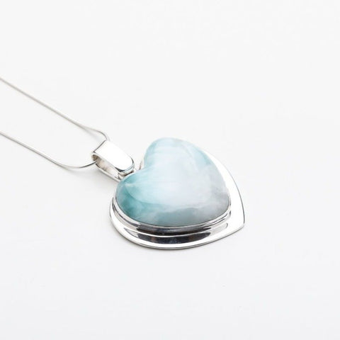 Larimar Heart Pendant, CLOUD XXIII