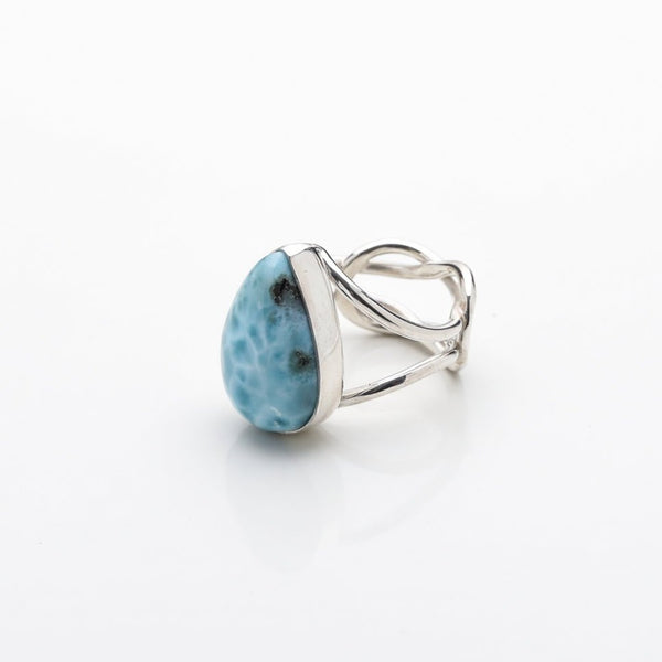 Larimar Teardrop Ring, Lauren