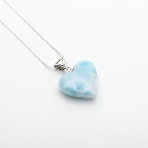 Heart Larimar Pendant, CLOUD XXX