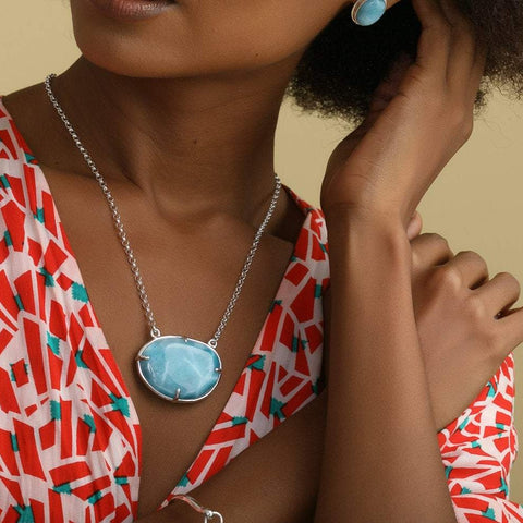 Reversible Larimar Necklace, Rossana