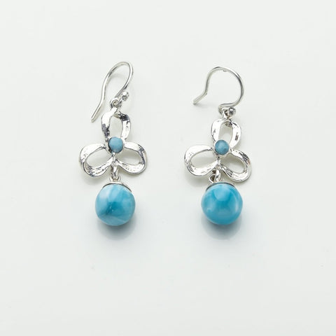 Larimar Beads Earrings, Iamdra