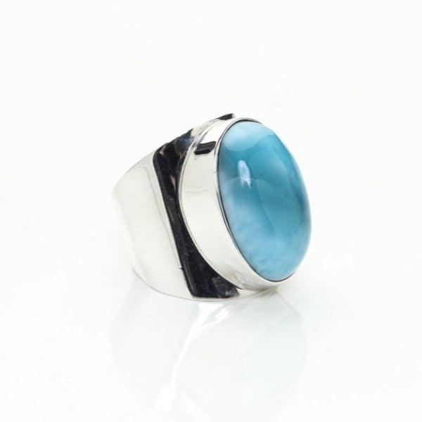 Larimar Oval Ring, Emmie