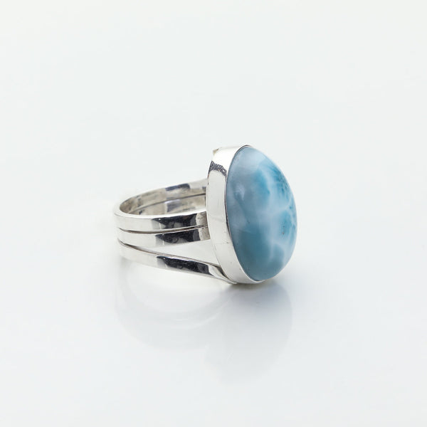 Larimar Oval Ring, Beatrice by The Larimar Shop