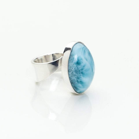 Larimar Oval Ring, Janelle