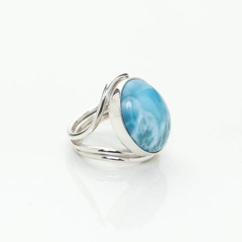 Oval Larimar Ring, Taissa