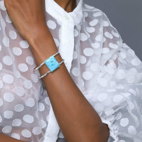 Larimar Cuff Bracelet, Dascha by The Larimar Shop