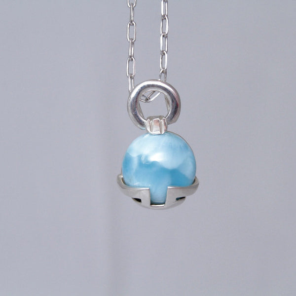 Silver Wrapped Larimar Pendant