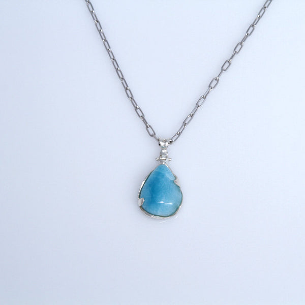 light blue larimar pendants